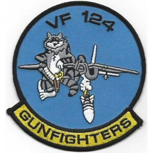 U.S. NAVY VF-124 TOMCAT FIGHTER SQUADRON USN MILITARY Patch GUNFIGHTERS