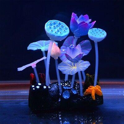 Glow in the Dark Artificial Plant Fish Tank Glowing Decorative Aquarium Ornament