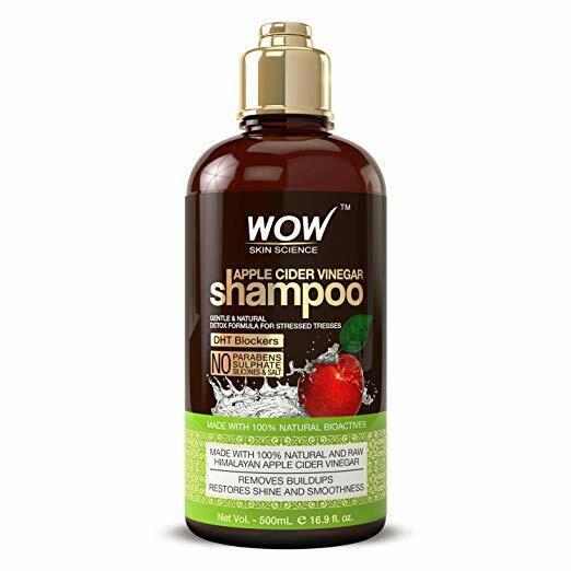 WOW Apple Cider Vinegar Shampoo - For Oily Hair - Anti Dandruff - 16.9 fl oz