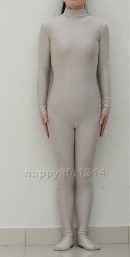 Unisex Spandex Zentai costume party Bodysuit Catsuit Unitard No Hood /& Hands