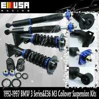 92-95 Bmw 318is Base Coupe 2d 1.8l Coilover Suspension Adjustable Height Blue