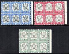 Nyasaland.  B.C.A. Blocks of six stamps. 1d, 4d & 6d.  1897,  SG. 43, 45, & 46