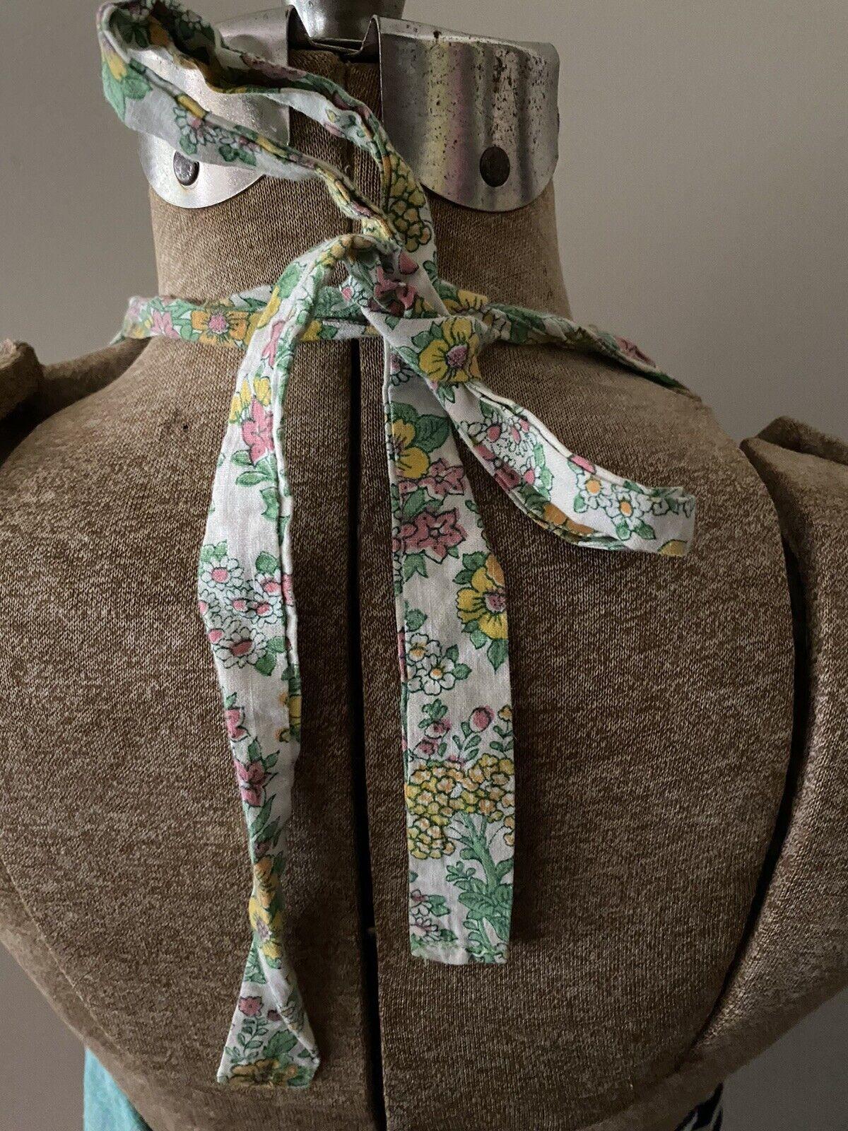 Vintage Handmade 60s Floral Patchwork Quilt Dress… - image 5