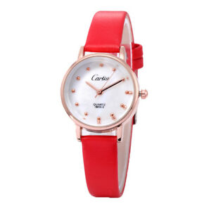 Cartisi-18013-2-Ladies-Leather-Strap-Watch-Red