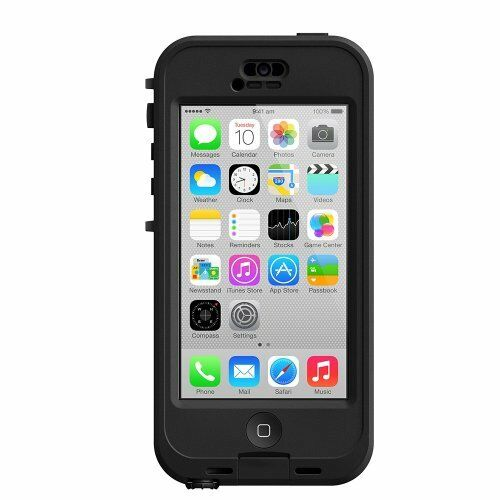 LifeProof NÜÜD for iPhone 5c Waterproof Retail Packaging BLACK/CLEAR