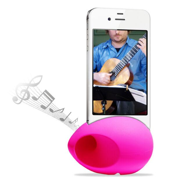 Cirago Pink iPhone NuSound-Pod Sound Speaker Amplifier for iPhone 5s 5c 5 4s 4