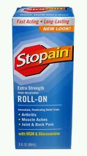 (3) Stopain Extra Strength Pain Relieving Roll-on 3 fl oz each