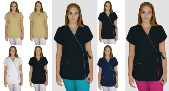 Lorre Long Nurses Uniform Massage Dentist Ladies Catering Salon Nail SPA Clinic