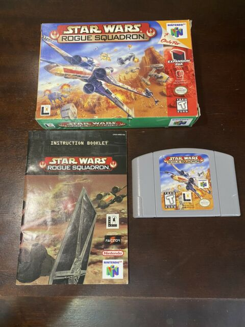Star Wars Rogue Squadron Nintendo 64 N64 Video Game in original packaging