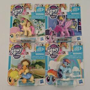My-Little-Pony-MLP-Story-Figure-Lot-x4-Applejack-Rainbow-FlutterShy-Twilight