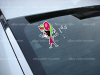 Yelling Invader Zim Cartoon Decal Sticker Free Ship