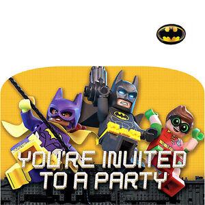 Lego Batman Party Supplies Invites 13051702458 Ebay