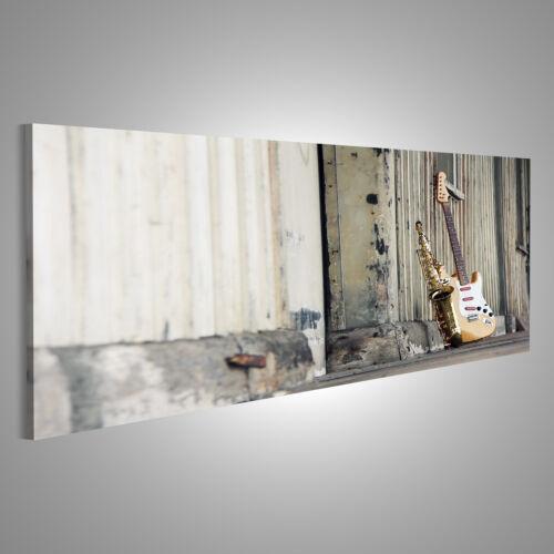 Saxophon Gitarre Bild auf Leinwand XXL Bilder AMD-Pano