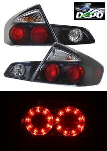 Image Is Loading Led Tail Lights Black Housing By Depo Fits