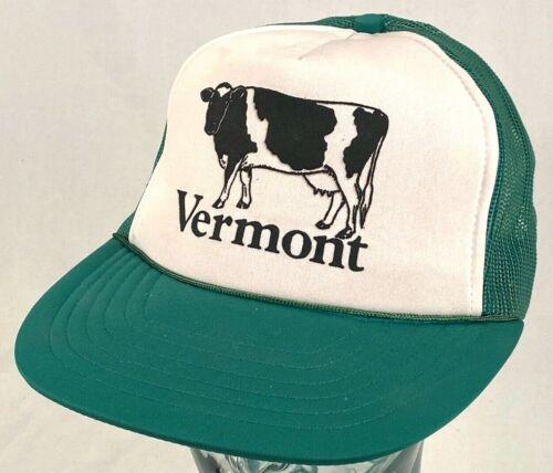 VERMONT Trucker Hat-Green-Mesh-Snapback-Rope Bill-