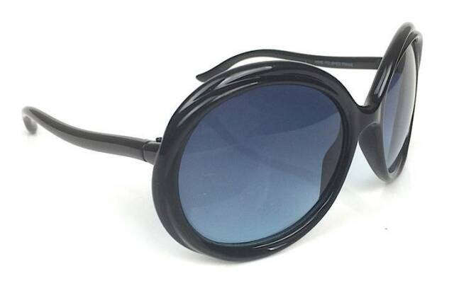 Designer Fashion Oversized Round Big Frame Women Black Brown Hot Sunglasses Ford