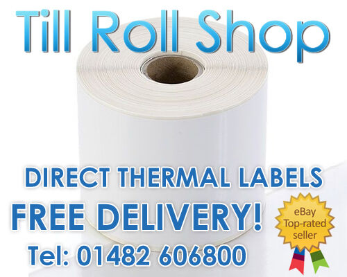 38mm Core 10,000 100mm x 38mm White Direct Thermal Labels