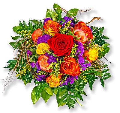 """Blumenversand Bunter Blumenstrauß Rosenstrauß """"schatz Ich Liebe Dich"""" Kann Wiederholt Umgeformt Werden. Blumensträuße"""