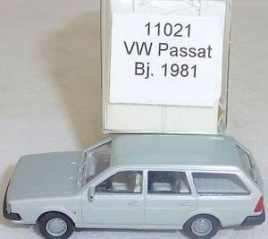 Argent-metallique-vw-passat-Annee-de-construction-1981-Mesureur-EUROMODELL-11021-h0-1-87-OVP-a