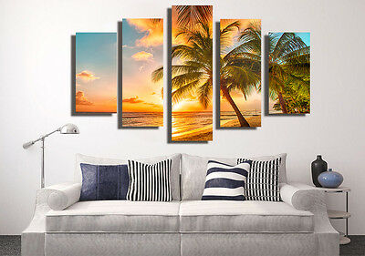 Huge Abstract Wall Decro Art Oil Painting on Canvas NO FRAME Beach Scenery 110