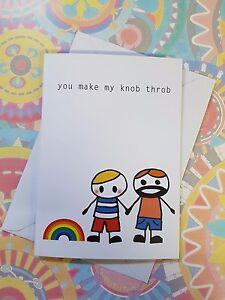 You make my knob throb gay adult greeting card rude offensive blank image is loading 039 you make my knob throb 039 gay m4hsunfo