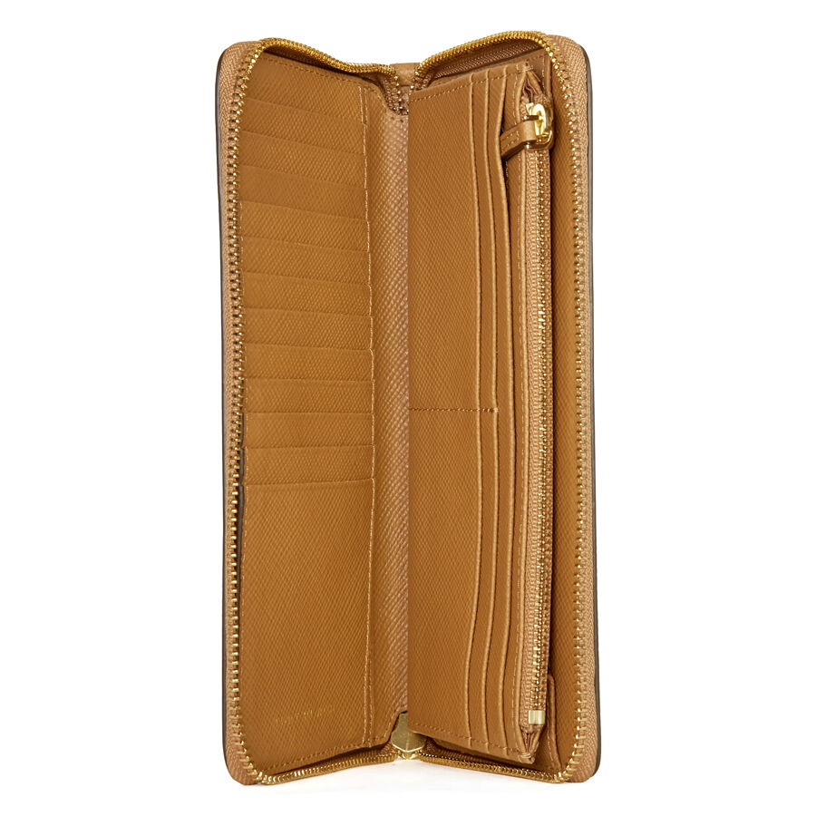 b63b0ad9771 Details about NWT Tory Burch Perry Passport Leather Continental Wallet  Saddle Tigers Eye