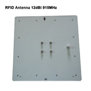 Details about White 12dbi UHF RFID patch antenna 915Mhz for directional  long range reader