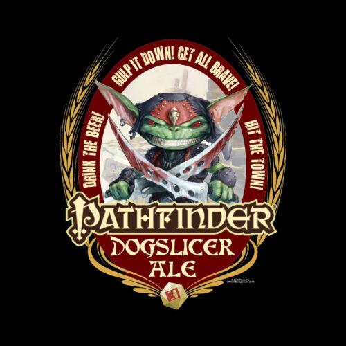 T-Shirt Pathfinder Dog Slicer Ale Beer Label RPG Paizo OffWorld Designs