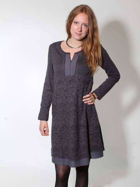 -20% Kleid Damen Retro von Simclan Gr. 40 grau anthra Cord ähnlich