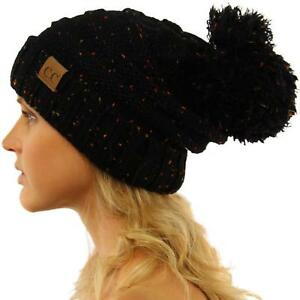 55060773297 CC Confetti Super Big Slouchy Pom Pom Warm Chunky Stretchy Knit ...