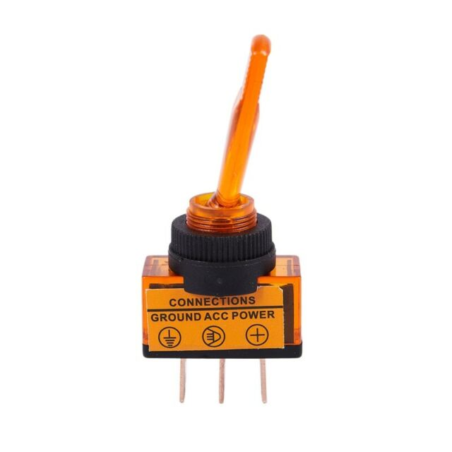 12V 20A Illuminated Flick Toggle SPST ON/OFF Switch Car Van Boat Dash Board R7N3