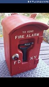 FDNY F.D.N.Y. New York City Fire Department Pull Station box vintage antique...