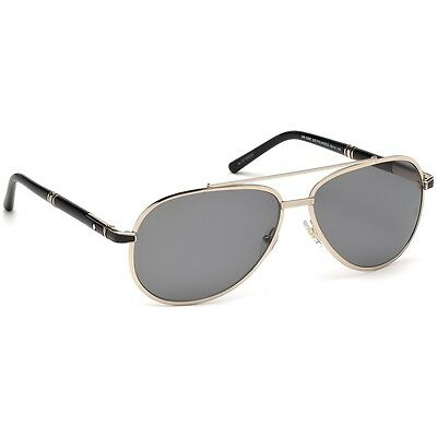 Montblanc Mens MB526S 33D Aviator Polarized 62mm Lens Sunglasses - MADE IN ITALY