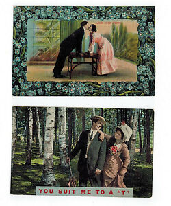 You-Suit-Me-to-a-034-T-034-Just-One-More-ROMANCE-LOVE-Early-1900-039-s-PC