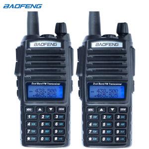 2PCS-Baofeng-UV-82-Dual-Band-Two-Way-Radio-136-174MHz-VHF-amp-400-520MHz-UHF-Black