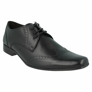 BASE LONDON MENS BUGSY MTO LACE UP SQUARE TOE LEATHER SEMI BROGUE FORMAL SHOES