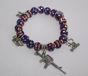Patriotic-Marine-Wife-Charm-Bracelet-Military-Wife-July-4th