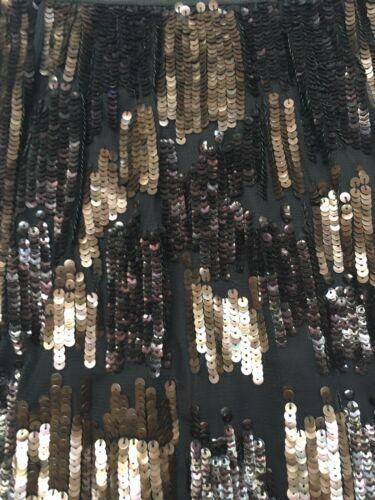 Fits Designer Gb scintillantes 10 Uk Lam en Parti paillettes noire Derek doré 6 12 soie jupe FxBwrFq