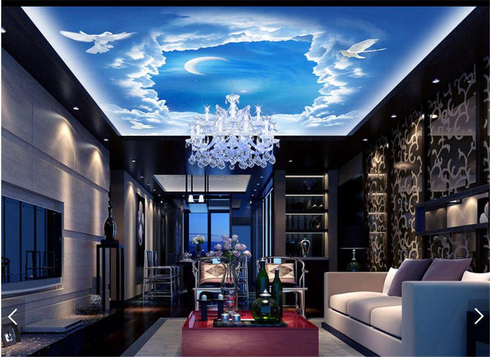 Calm Variable Circle 3D Ceiling Mural Full Wall Photo Wallpaper Print Home Decor