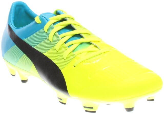 Buy PUMA evoPOWER 2.3 FG Sz 11 Atomic Blue Safety Yellow BOOTS ... 534520d7d