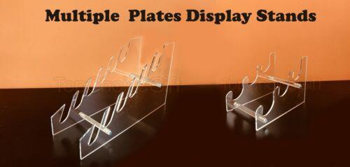 3 ou 6 Niveaux Multiples Acrylique Transparent Plastique Plaque Disque Plat Présentoir Rack