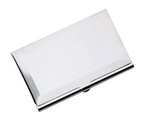 Silver plated business card credit card case holder new ebay image is loading silver plated business card credit card case holder colourmoves Choice Image