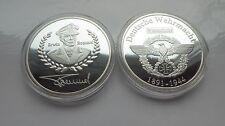 Deutsches Reich Silbermünze Medaille General Erwin Rommel 2.Weltkrieg versilbert