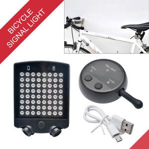 Telecomando-senza-fili-LED-Lampada-Indicatore-direzione-Luce-posteriore-per-bici