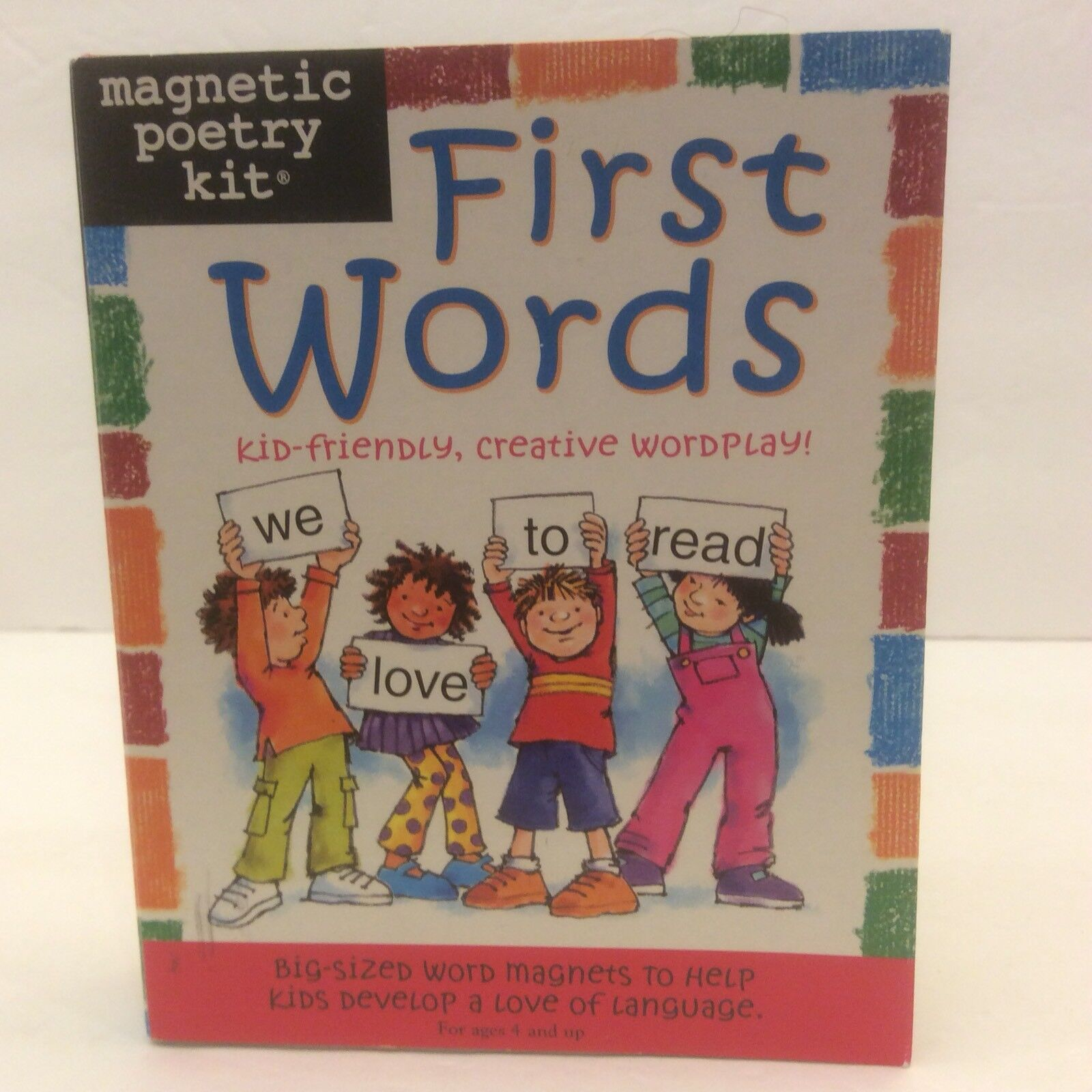 Magnetic Poetry Kids First Words Kit Homeschool Educate Language