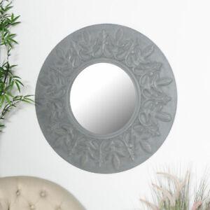 Spiegel rund schwarz shabby weiss streichen