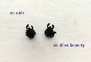 1Pair-Black-Scorpion-Party-316L-Stainless-Steel-Surgical-Titanium-Earrings-Stud