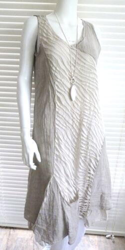 Detail Emily sand Beautiful khaki White navy With Dress Panel Bias Italian Cut Linen Fw80RUq