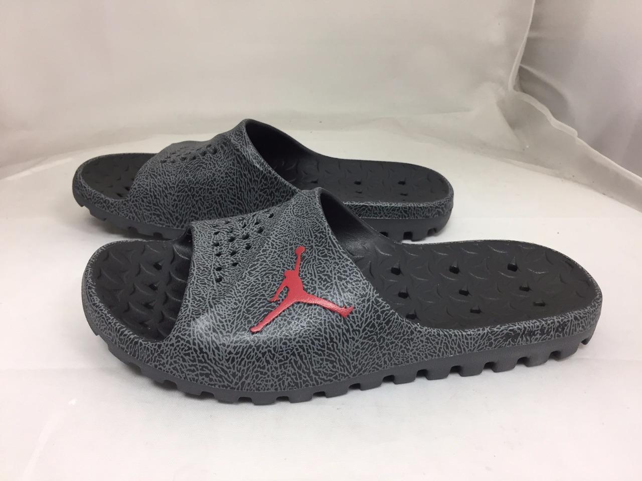 b6a2e456a4a22 Nike Jordan Super.fly Team Slide 2 Size 8 Grey Flip Flop Sandal ...