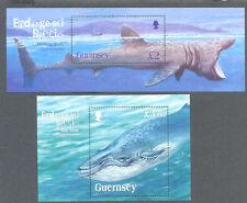 Guernsey-Shark & Whale min sheets(2) mnh